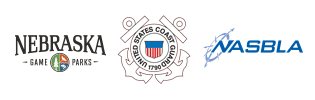 Nebraska Game and Parks Commission, USCG, and NASBLA logos