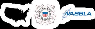 Continental USA, US Coast Guard, and NASBLA logos