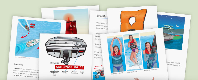 pages from a boat safety handbook