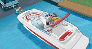 Boat ramp etiquette illustration