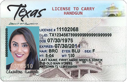 Texas Licence to Carry Handgun Card