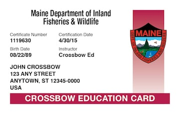 Maine safety education card