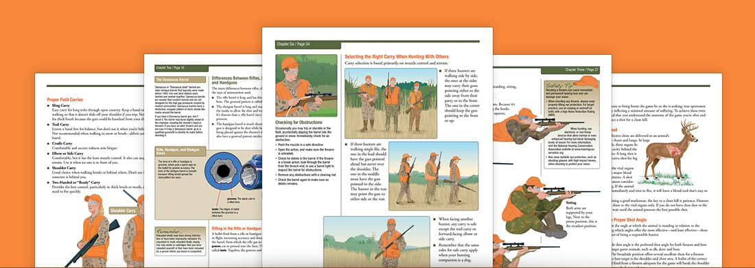 pages from a hunter safety handbook