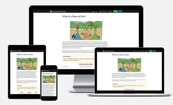 Hunter course displayed on various devices