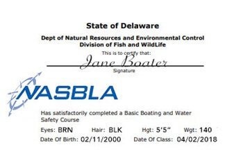 Delaware Boating Safety Education Certificate