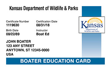 Kansas Boating Education Certificate