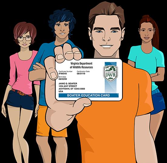Virginia safety education card