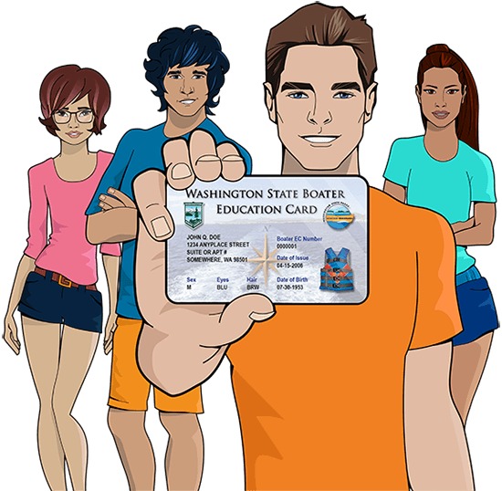 Washington safety education card
