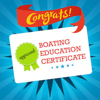 Congrats, Boating Education Certificate card