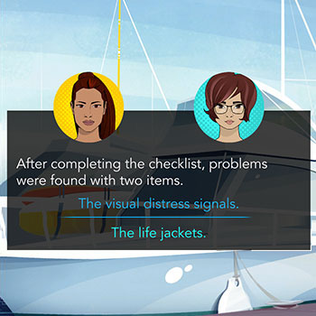 Two animated women with a list of two problems