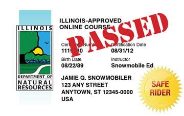 Illinois safety education card